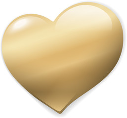 Golden vector Heart as Button