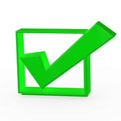 grüner Hacken - check Button