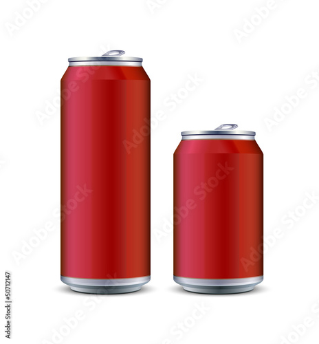 Two Red Aluminum Can