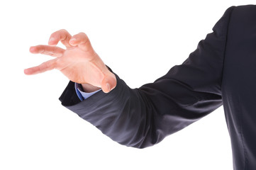 Businessman claw hand.