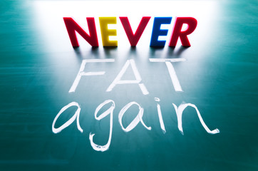 Never fat again concept