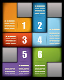 Colorful print presentation template