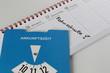 Notiz im Kalender für Fahrschule