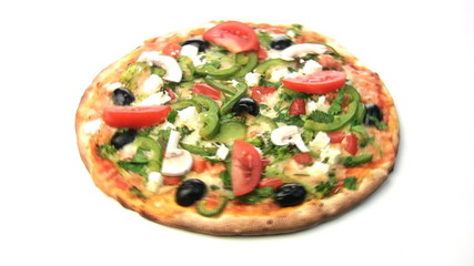 Vegetarian pizza rotate