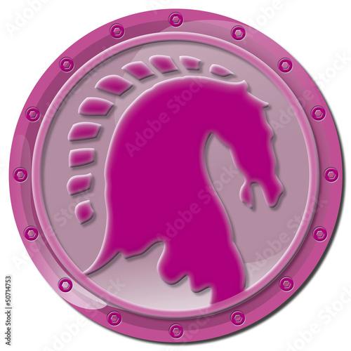 Button, Icon, Pferd, Pferdekopf, Medaile, reiten