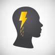 Kopf mit Blitz