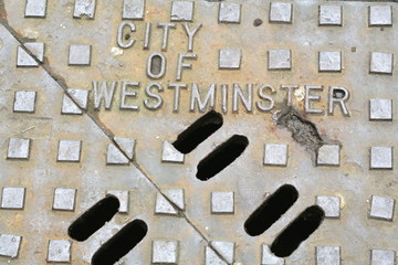 city of wesrminister man hole cover