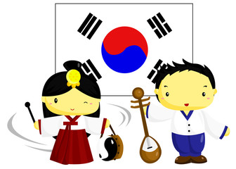 Korea Culture and Flag