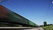 Постер, плакат: Freight train seamless loop Trans Siberian Railway