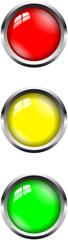 Ampel Buttons Rot Gelb Grün