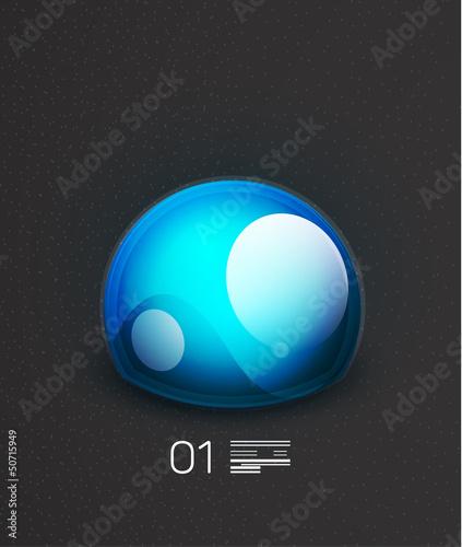 Blue globe concept design template