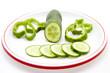 Salatgurke mit Paprika
