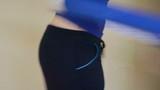 Girl turn hoop waist huge bruise bare show slenderize slimm tool