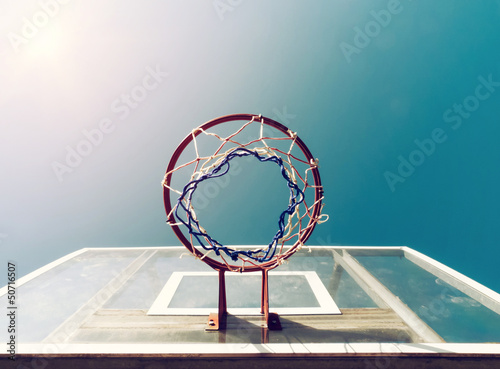 Basketball Below Net