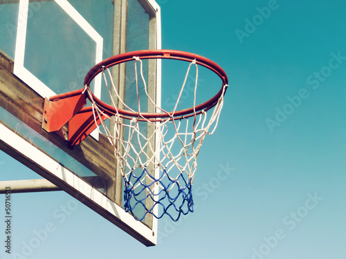 Poster, Tablou Basketball Hoop Closeup