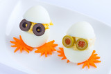 Funny eggs - breakfast for kids