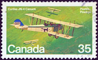 Curtiss JN-4 Canuck biplane (Canada 1980)