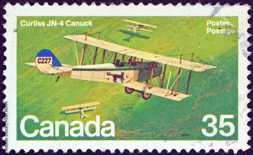 Curtiss JN-4 Canuck biplane (Canada 1980)