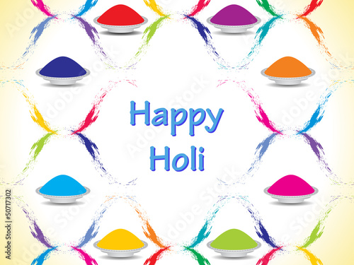 colorful background design for Indian festival Holi.