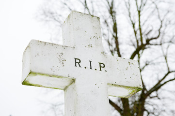 Cross With R.I.P.