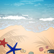 Vector Illustration of a Summer Beach Design