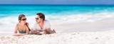 Fototapety Couple on a tropical beach