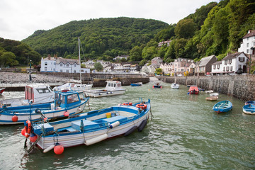Lynmouth Harbour in Devon UK