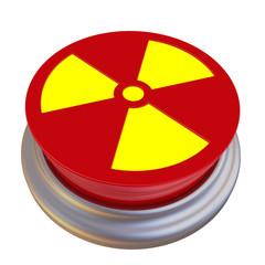 Красная кнопка с символом радиоактивной опасности