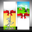 Easter banner set with ribbon.