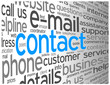 """CONTACT"" Tag Cloud (call us details customer service hotline)"