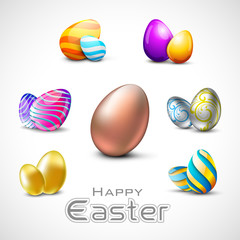 Happy Easter background with eggs.