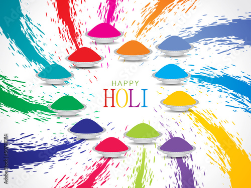 beautiful background design for Indian festival Holi.