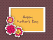 Floral decorated background, flyer or banner for Happy Mothers D