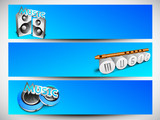 Musical header or banner set.
