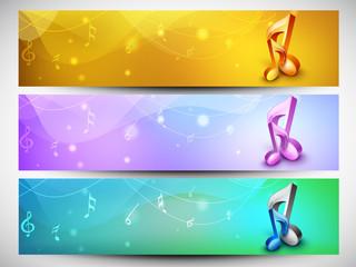 Musical header or banner set.