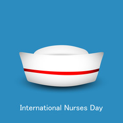 International nurse day concept with nurse cap.