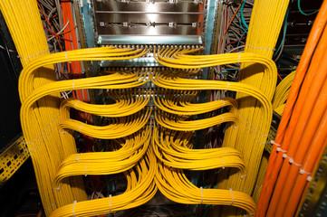 IT Rechenzentrum Netzwerk Kupfer Patchfeld