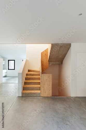 Foto op Plexiglas Trappen Interior of stylish modern house, staircase view