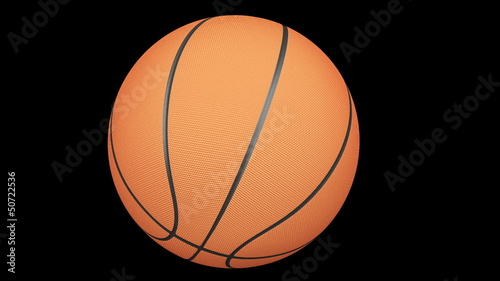 Basketball Rotating around in Loop with Alpha Channel