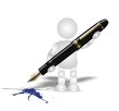 signature pen - 3D people
