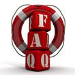"Аббревиатура ""FAQ"" на фоне спасательного круга"