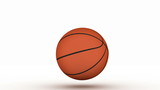 Isolated Basketball bouncing straight down with alpha