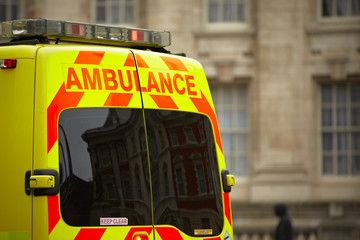 Door of the emergency ambulance car