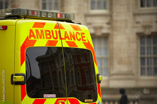 canvas print picture Door of the emergency ambulance car