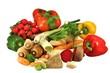 Gemüse freigestellt