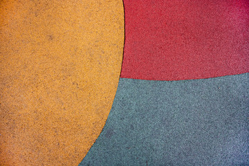 Close up of playground colored ground