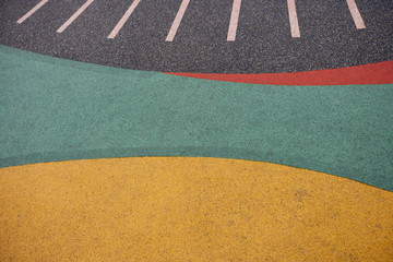 Close up of playground rubber floor