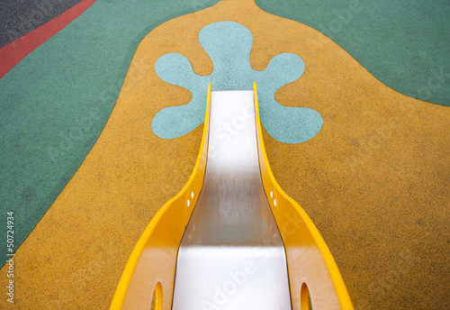 View down to ground from top of slide