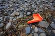 Plastic garbage washed up on the shore, Ireland