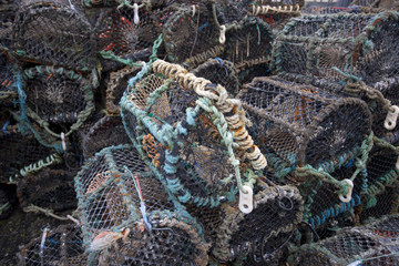 Pile of Lobster and Crab fishing pots